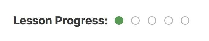 LearnDash progress dots example