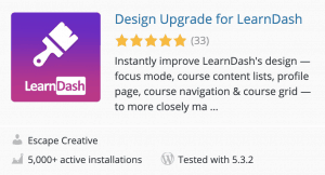 Design Upgrade for LearnDash plugin card