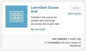 Module d'extension de la grille de cours LearnDash