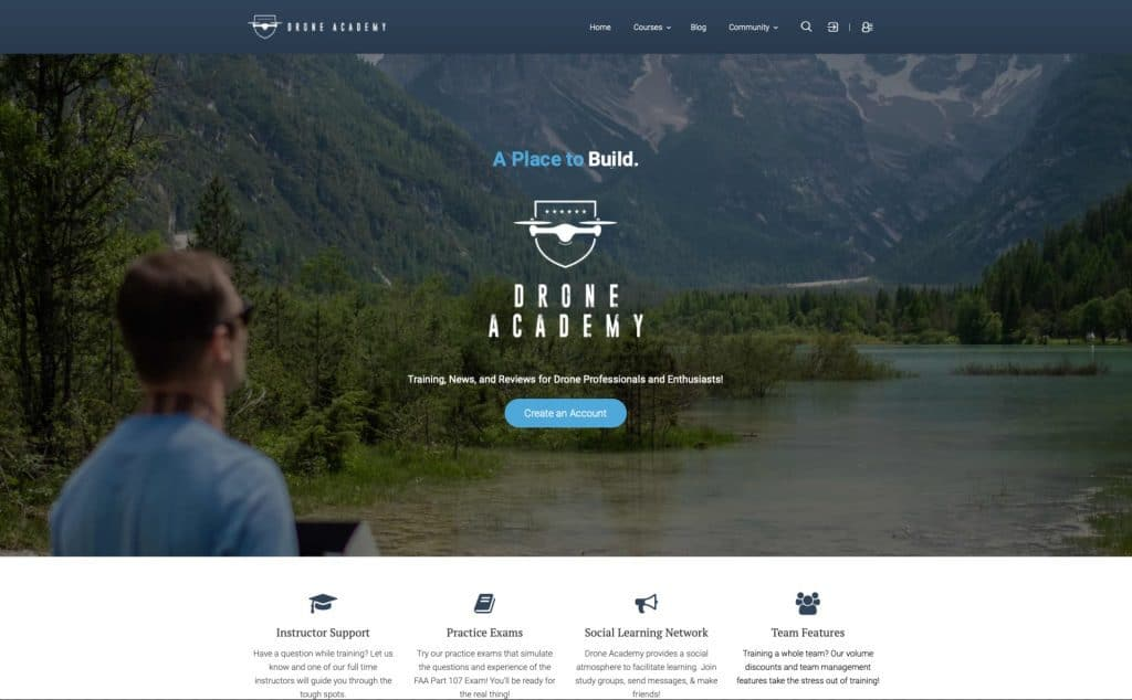 Drone Academy homepage