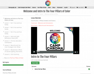 Camp Chroma lesson page