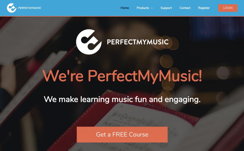 PerfectMyMusic homepage