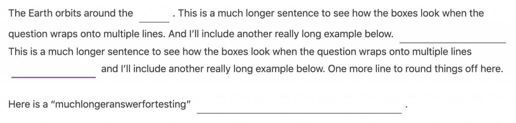 LearnDash underline fill-in-the-blank question