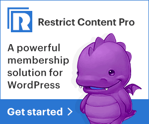 Restrict Content Pro get started banner
