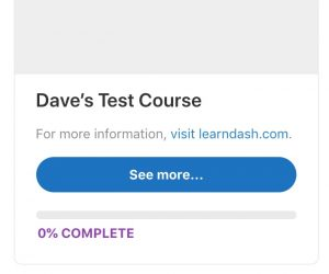 A hyperlink in a LearnDash grid short description